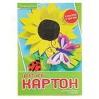 """Картон цветной А4, 5 листов, 5 цветов """"Хобби тайм"""""""