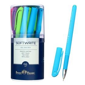 Ручка шариковая SoftWrite Special, узел 0.5 мм, синие чернила на масляной основе, матовый корпус Silk Touch, МИКС