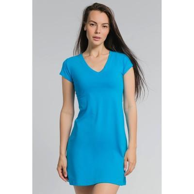 Платье женское М-240-02 цвет голубой, р-р 50