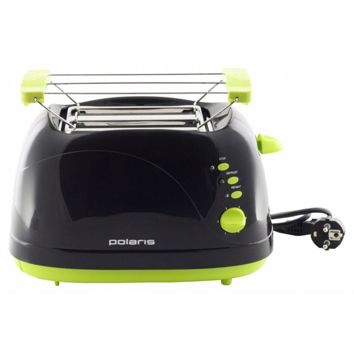 Тостер Polaris PET0702LB 750 Вт чёрно-зелёный