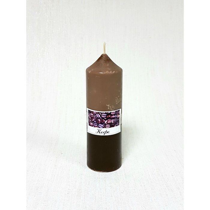Свеча цилиндрическая «Кофе», 5 х 15.5 см