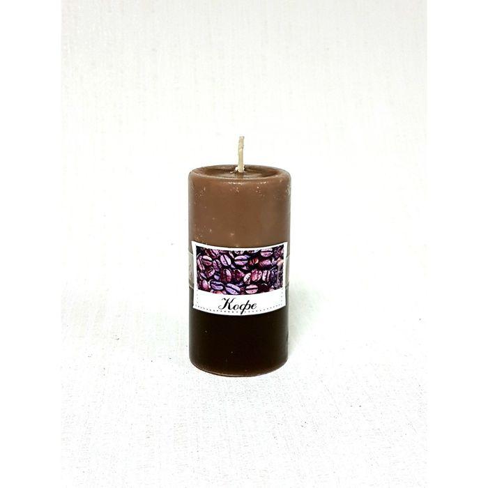 Свеча цилиндрическая «Кофе», ручная работа, 9.5 х 5.2 см