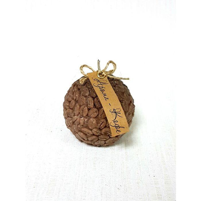 Свеча-шар ароматическая «Кофейное зерно», ручная работа, 6.5 х 6 см