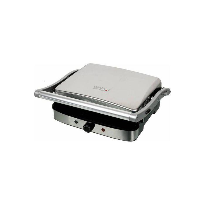 Гриль Sinbo SSM 2530, 2000 Вт, антипригарное покрытие, серебристый