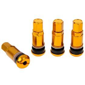 Вентили (ниппели) для колес 'золотой хром', набор 4 шт, Ош