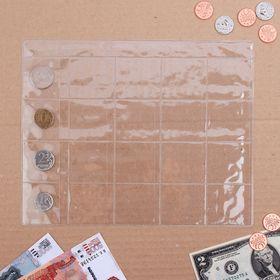 Лист для монет, 20 ячеек, 20 х 25 см