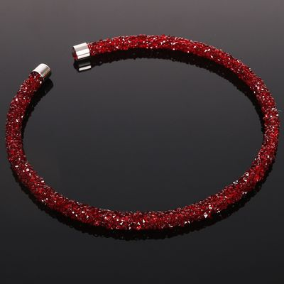 "Necklace ""Stephanie"", color red"
