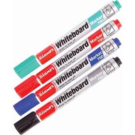 Набор маркеров для доски 4 цвета 3.0 мм Luxor 750 3380/4 WT