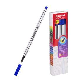 Ручка капиллярная Luxor Fine Writer, узел 0.8мм, чернила синие