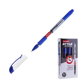 Ручка шариковая Luxor Style, узел 0.7 мм, чернила синие, резиновый упор