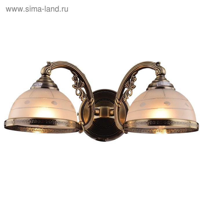 """Бра """"Буржуа"""" 2 лампы Е14 40Вт бронза 48х48х20 см"""
