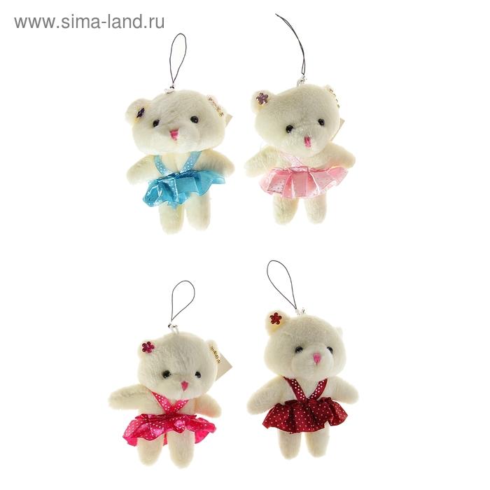 "Мягкая игрушка-подвеска ""Мишка в сарафане"", цвета МИКС"
