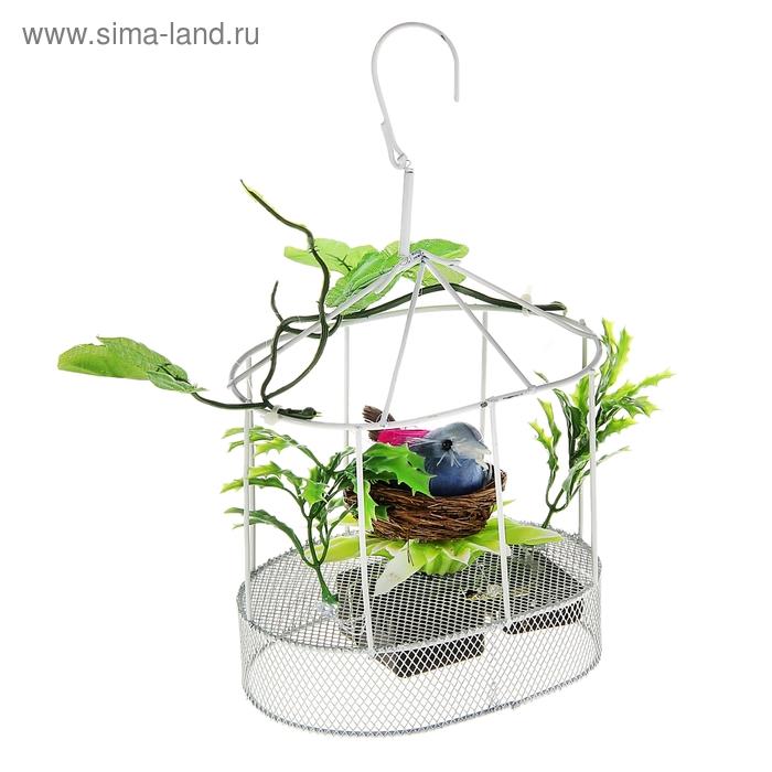 """Сувенир музыкальный """"Птичка в гнезде с листочками"""", световой"""
