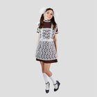 """Костюм """"Отличница"""", платье, фартук гипюр, банты 2 шт, размер 46-48"""