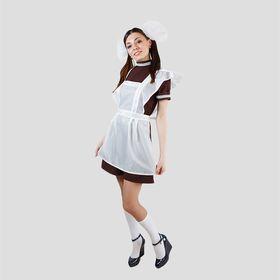 "Костюм ""Отличница"", платье, фартук атлас, банты 2 шт, размер 42-44"