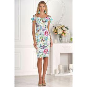 Платье женское, размер 50, рост 170 см, разноцветное