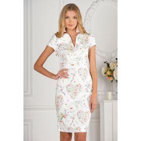 Платье женское, размер 50, рост 170 см, цвет белый