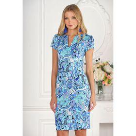 Платье женское, размер 42, рост 170 см, цвет синий
