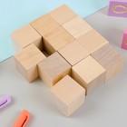 Кубики Неокрашенные, 12 шт., размер кубика: 3,8 × 3,8 см