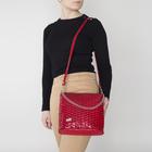 Сумка женская на молнии, 1 отдел, наружный карман, цвет красный