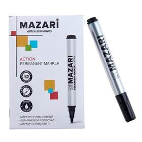 Маркер перманентный Mazari Action, 2.0 мм, чёрный