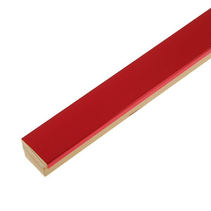 """Багет пластиковый 31мм*22мм*2.9м (Ш*В*Д) """"ШХ"""" 267-3122 красный"""