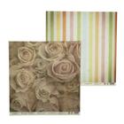 """Бумага для скрапбукинга """"Винтаж. Розы и цветные полосы"""" 30,5х30,5 см  190г/м2"""