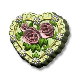 """Пластиковая форма для мыла """"Сердце в розах"""""""
