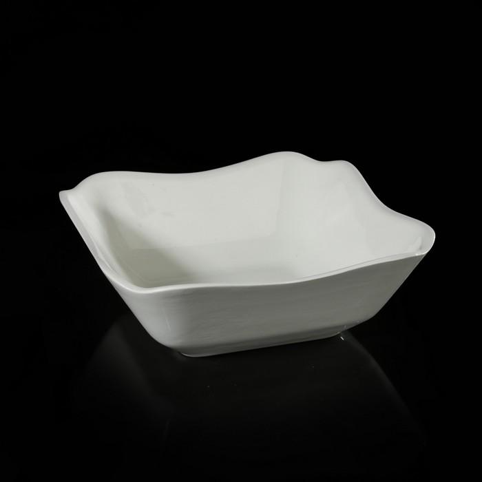 Салатник четерехугольный 1,1 л, цвет белый