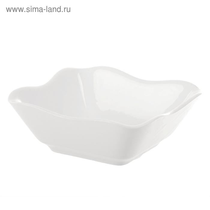 Салатник 360 мл, 14х14х5,1 см, цвет белый