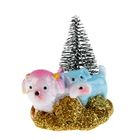 "Souvenir Polyresin ""Dogs in trees"" MIX 5х6х4,2 cm"
