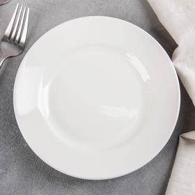 Тарелка мелкая d=17,5 см, высота 2,6 см, цвет белый