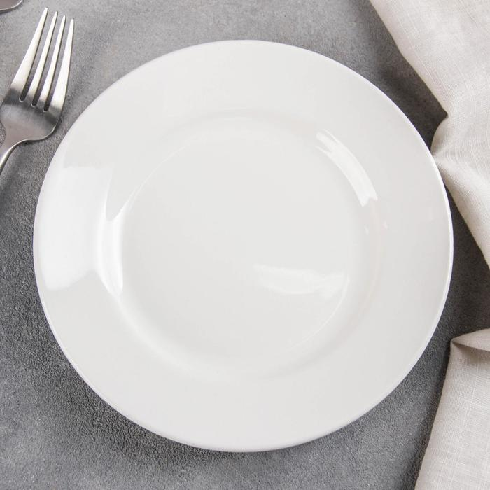 Тарелка мелкая 17,5 см, цвет белый