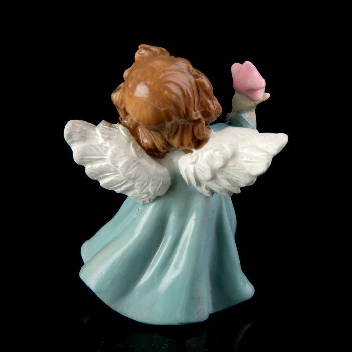 """Сувенир полистоун """"Ангелочек-малыш держит в руке звездочку/голубя"""" лак МИКС 6,5х4х5 см"""