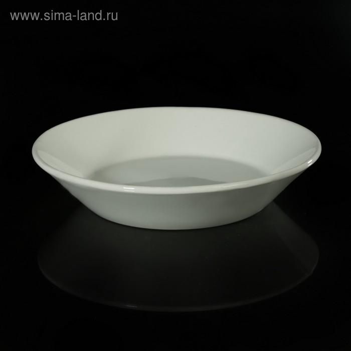 Блюдце-тазик 14 см, цвет белый