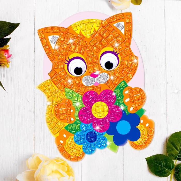 Мозаика стикерная форменная «Котёнок». Набор для творчества