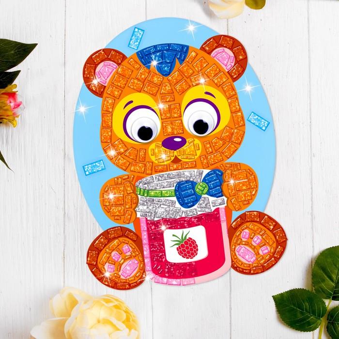 Мозаика стикерная форменная «Медвежонок». Набор для творчества