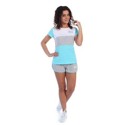 Комплект женский (футболка, шорты) Дженни 2070, цвет голубой, р-р 44