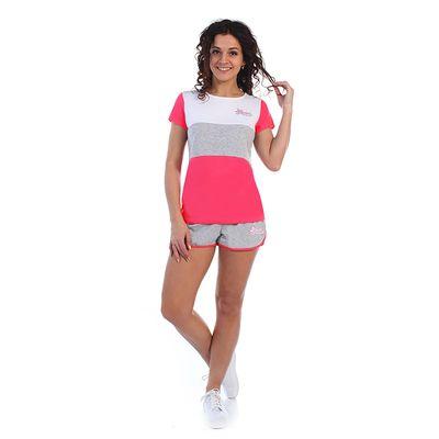 Комплект женский (футболка, шорты) Дженни 2070, цвет розовый, р-р 52