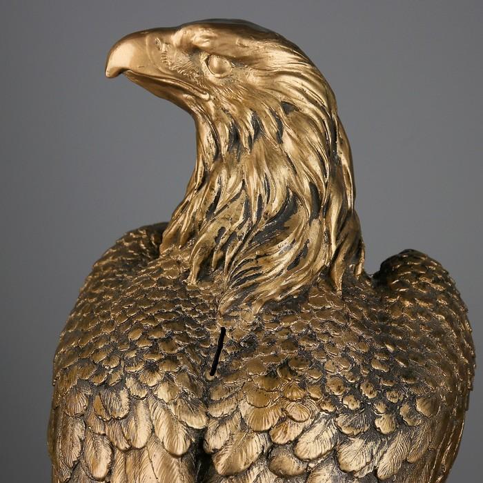 """Копилка """"Орел"""" большая, цвет бронза"""