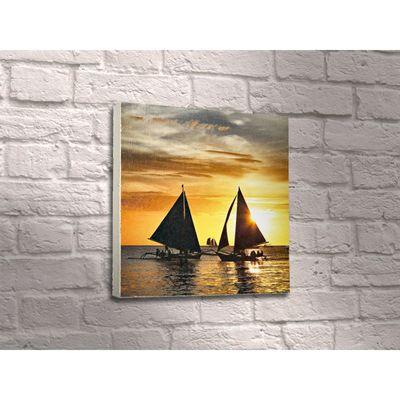 """Картина """"Яхты на закате солнца"""""""