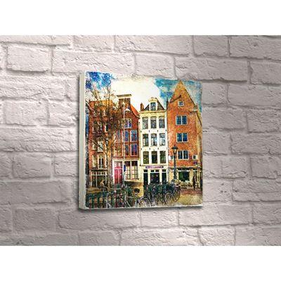 "Картина ""Улица в Амстердаме"" живопись"