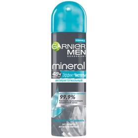 Дезодорант-антиперспирант Garnier Mineral Men «Эффект чистоты», аэрозоль, 150 мл