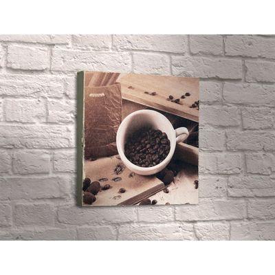"""Картина """"Кофейные зёрна в белой чашке"""""""