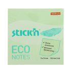 Блок с липким краем Hopax ECO 76x76 мм, 100 листов, пастель, зелёная