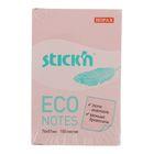 Блок с липким краем 51x76мм, 100 листов Hopax ECO, пастель розовая