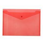 Папка-конверт на кнопке А4 BASIC 120мкм, красная