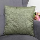 Декоративная подушка тафта «Элеганс», 38х38 см, оливка, п/э 100%