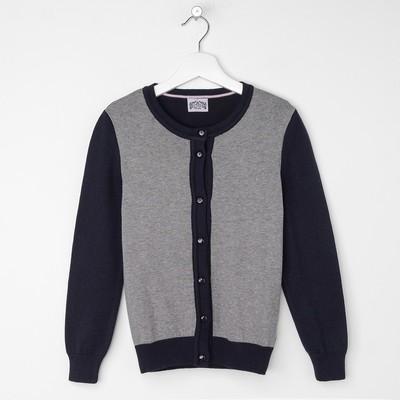 Джемпер для девочки, рост 122 см, цвет серый/синий