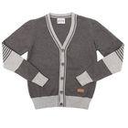 Джемпер для мальчика, рост 122 см, цвет серый